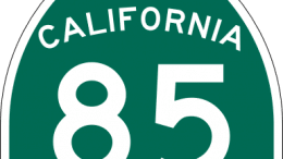 Road sign state route 85 California