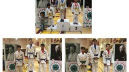Judo tournament winners