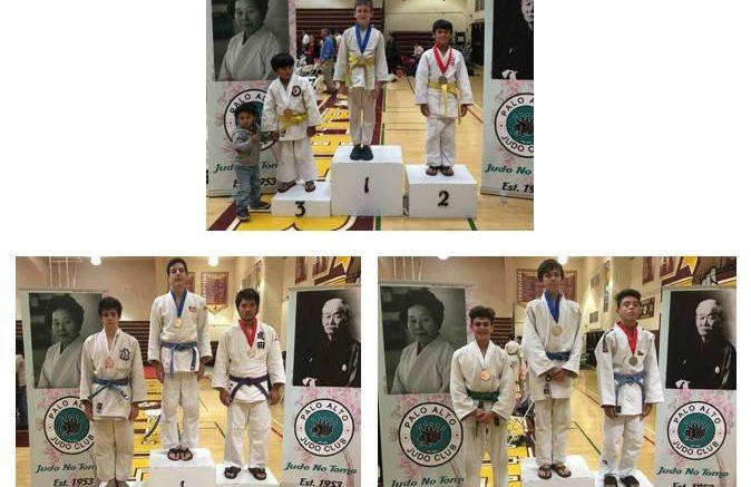 Judo tournament winners