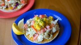 Fish taco at Coconut's Fish Cafe