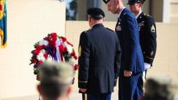 Soldiers honor our veterans - Cupertino Veterans Memorial