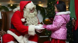 Santa visits Cupertino homes