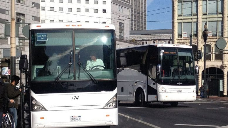 Buses carrying tech workers targeted outside San Francisco