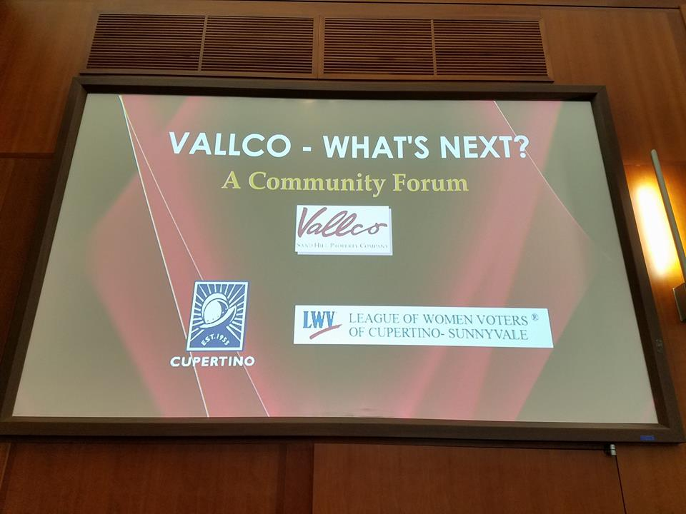 The future of Vallco was discussed at the community forum held on May 14. Photo courtesy of League of Women Voters of Cupertino-Sunnyvale Facebook.