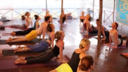 Yoga Wave Cupertino is hosting a silent disco Yoga/Pilates infusion class in the park.