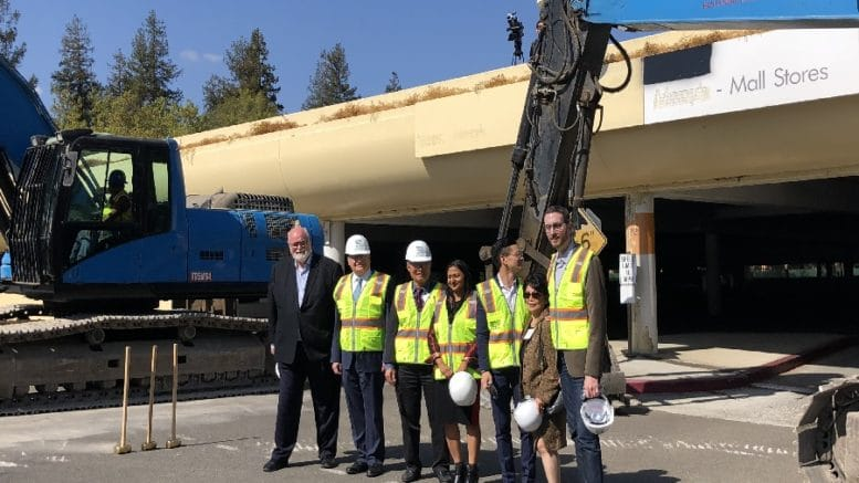 A press conference called Demolition Day took place at the Vallco mall's former AMC Theatres lobby.
