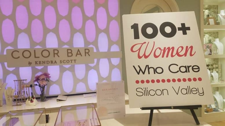 Photo courtesy of 100+ Women Who Care Silicon Valley Facebook.